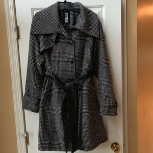 D.E.T.A.I.L.S Intl Wool Blend Trench Coat Size L